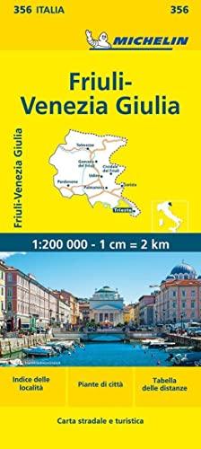 9782067126657: Michelin Map Italy: Friuli-Venezia Giulia 356 1:200K (Maps/Local (Michelin)) (Italian Edition)