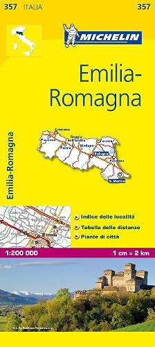 9782067126664: Michelin Map Italy: Emilia-Romagna 357 1:200K (Maps/Local (Michelin)) (Italian Edition)