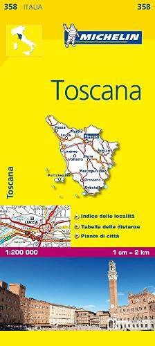 9782067126671: Michelin Map Italy: Toscana 358 (Maps/Local (Michelin)) (Italian Edition)