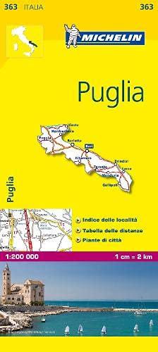 9782067126725: Michelin Map Italy: Puglia 363 (Maps/Local (Michelin)) (Italian Edition)