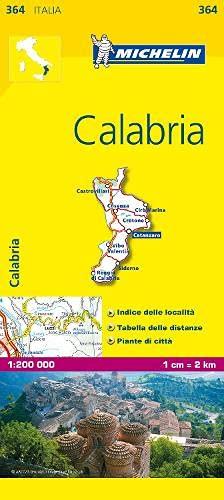 9782067126732: Michelin Map Italy: Calabria 364 1:200K (Maps/Local (Michelin)) (Italian Edition)