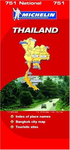 9782067126879: Thailand 2007 (Michelin National Maps)