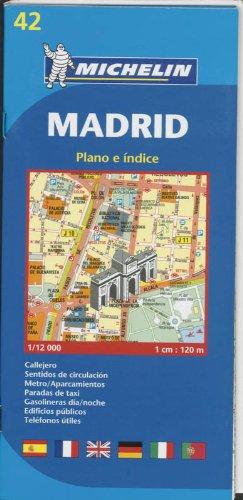 9782067127685: Michelin Map Madrid #42 (Maps/City (Michelin))