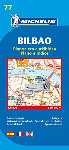 9782067127890: Map 9077 Bilbao 2007 (Michelin City Plans)