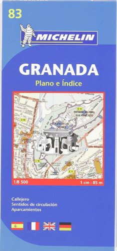 9782067127951: Map 9083 Granada (Michelin City Plans)