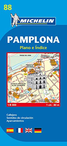 9782067128002: Pamplona City Plan: Plano E Indice (Michelin City Plans)