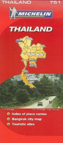 9782067128316: Michelin Map Thailand 751 (Michelin Maps)
