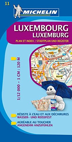 9782067129573: Luxembourg City Plan (Michelin City Plans)