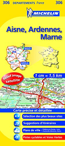9782067132498: Carte DPARTEMENTS Aisne, Ardennes, Marne