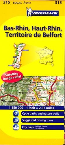 9782067133693: Michelin Map France: Bas-Rhin/ Belfort 1:150K MH315 (Maps/Local (Michelin)) (English and French Edition)