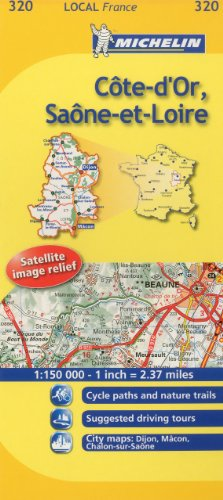 9782067133747: Michelin Map France: Cte-d'Or, Sane-et-Loire 320 (Maps/Local (Michelin)) (English and French Edition)