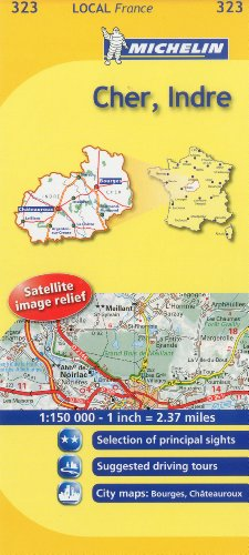 Michelin Map France: Cher, Indre 323 (Maps/Local (Michelin)) (English and French Edition): ...