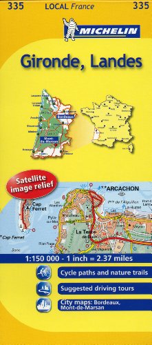 9782067133891: Michelin Map France: Gironde, Landes MH335 (Maps/Local (Michelin)) (English and French Edition)
