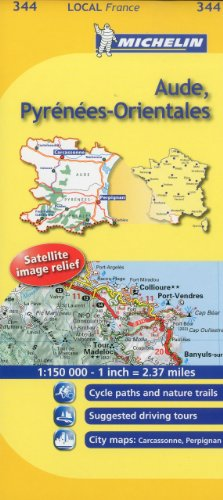 Michelin Map France: Aude, Pyrnes-Orientales 344 (Maps/Local (Michelin)) (English and French ...