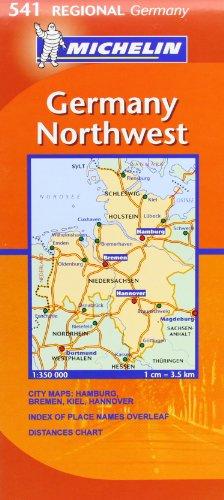 Michelin Map Of Germany.9782067134003 Michelin Map Germany Northwest 541 Maps Regional