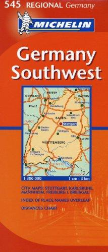 9782067134041: Michelin Map Germany Southwest 545 (Maps/Regional (Michelin))