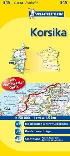 9782067134515: Michelin Localkarte Korsika 1 : 150 000: Die schönsten Sehenswürdigkeiten, Routenvorschläge, Stadtpläne: Ajaccio, Bastia, Bonifacio, Calvi, Corte, Sartène