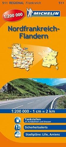 9782067135024: Nordfrankreich - Flandern 1 : 200 000: Regionalkarte. Tankstellen an Autobahnen und Strassen, Blitzer, Stadtpläne: Lille, Amiens