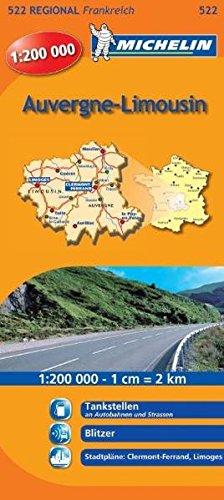 9782067135130: Michelin Regionalkarte Auvergne, Limousin 1 : 200 000