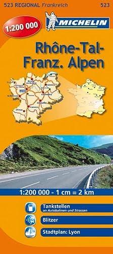 9782067135147: Michelin Regionalkarte Rhônetal - Französische Alpen. 1 : 200 000: Tankstellen an Autobahnen und Strassen, Sicherheitsalerts, Stadtplan: Lyon
