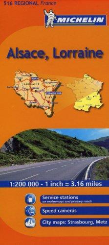 9782067135246: Michelin Map France: Alsace, Lorraine 516 (Maps/Regional (Michelin))