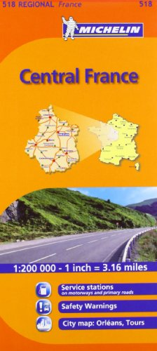 9782067135260: Centre 518 (Maps/Regional (Michelin))1:200K (English and French Edition)