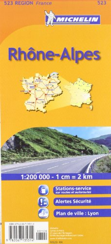 9782067135314: Michelin Map France: Rhone Alpes 523 (Maps/Regional (Michelin)) (French Edition)