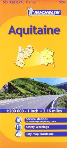 9782067135321: Mapa Regional Aquitaine (Carte regionali)