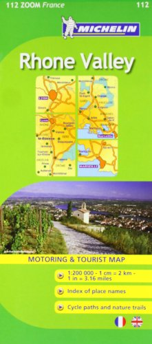 9782067135598: Michelin Map ZOOM France: Rhone Valley Map No. 112 (Maps/Zoom (Michelin))