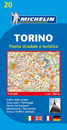 9782067137899: Torino (Turin) Town Plan with Index (Michelin City Plans)