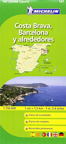 9782067140660: Barcelona Y Alreded. C. Brava (Michelin Zoom Maps)