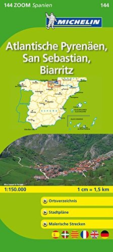 9782067140721: Michelin Localkarte Atlantische Pyrenäen, San Sebastian, Biarritz 1 : 150 000