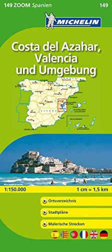 9782067140776: Michelin Zoomkarte Costa del Azahar, Valencia und Umgebung 1 : 150 000