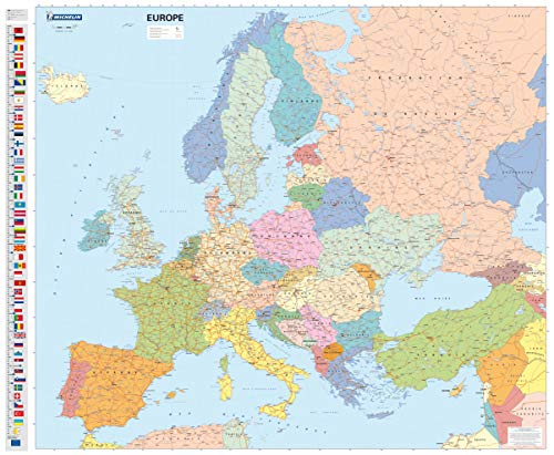 9782067142916: Europe Political: Encapsulated Wall Map (Michelin Wall Maps)