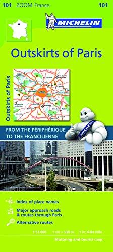 9782067148826: Michelin Map ZOOM Paris Outskirts of Paris 101 (Maps/Zoom (Michelin))