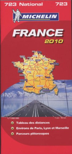 9782067149304: France 2010 2010 (Michelin National Maps) (English, French and French Edition)
