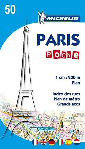 9782067150331: Michelin Paris Poche Map No. 50 (Pocket Map) (Maps/City (Michelin))