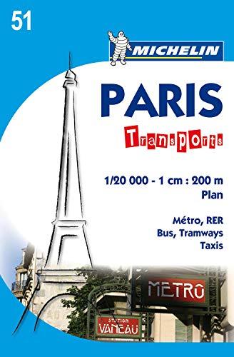 Michelin Map Paris Transports #51 (Maps/City (Michelin)): Michelin