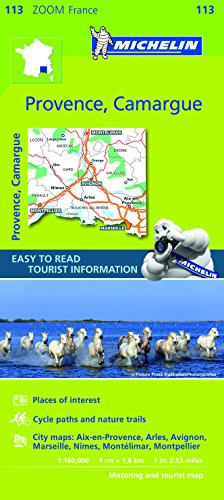 9782067150423: Michelin ZOOM France: Provence, Camargue Map 113 (Maps/Zoom (Michelin)) (English and French Edition)