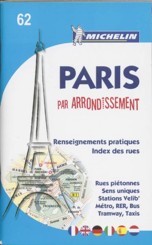 Michelin Map Paris by Arrondissements (saddle-stitched) No.: Michelin