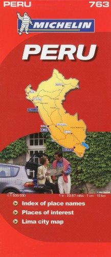 9782067150720: Michelin Map Peru 763 (Maps/Country (Michelin))