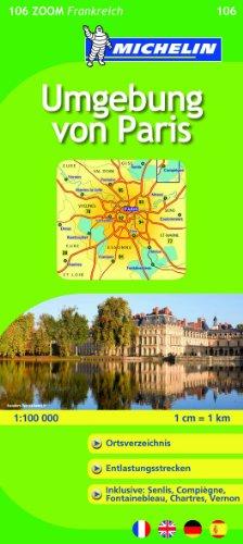 9782067157804: Michelin Zoomkarte Umgebung von Paris 1 : 100 000