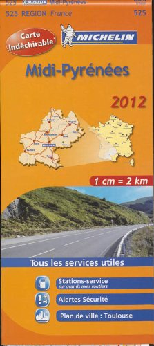 9782067169586: Carte REGION Midi-Pyrnes 2012