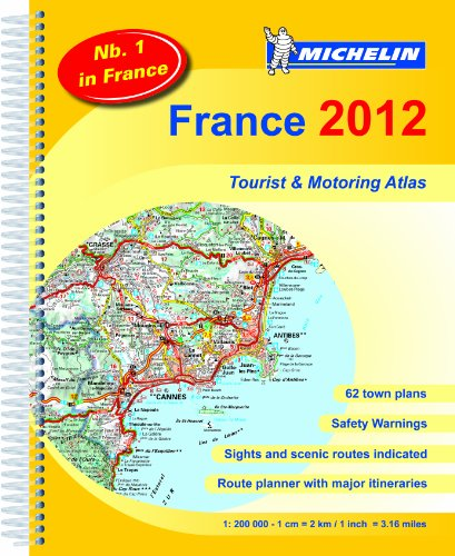 9782067169647: France Atlas 2012 (Michelin Tourist and Motoring Atlases)