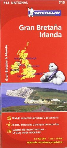9782067170308: Gran Bretaña, Irlanda. Mapa National 713