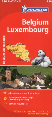 Belgium/Luxembourg (Maps/Country (Michelin)) by Michelin ...