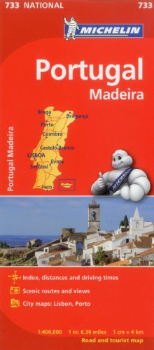 9782067171299: Michelin Portugal Map 733 (Maps/Country (Michelin))