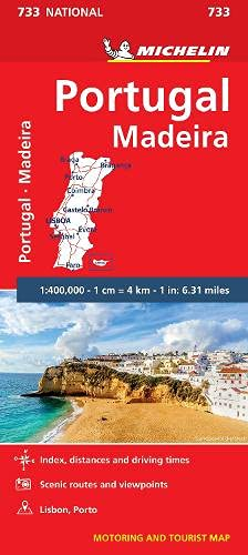 9782067171350: Portugal & Madeira - Michelin National Map 733: Map (Michelin National Maps, 733)