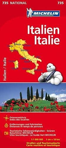 9782067171480: Nationalkarte Italien 1 : 1 000 000: Ortsverzeichnis, Entfernungen und Fahrzeiten,Touristische Sehenswürdigkeiten