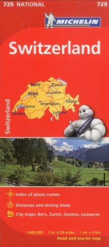 Switzerland Map 10th Edition: M 729